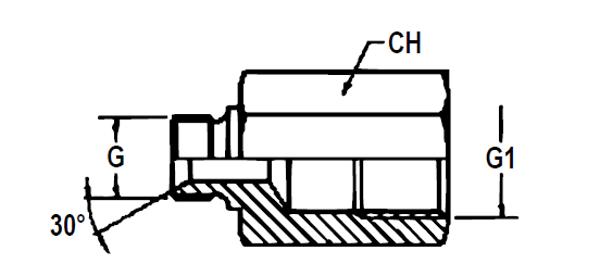 Bild för kategori Adapter BSP utv/inv oliksidig