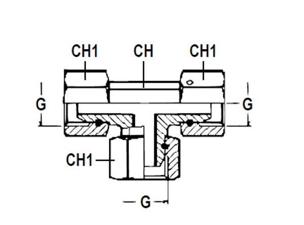 Bild för kategori T-adapter BSP inv rörlig