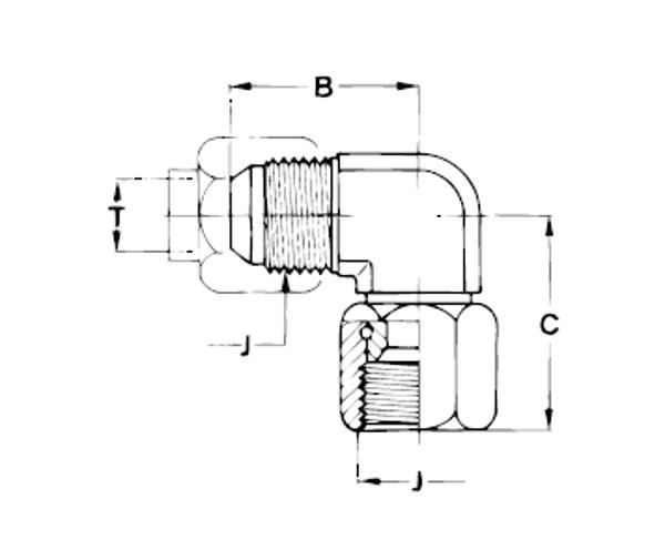 Bild för kategori JIC 90° vinkel svivlande mutter