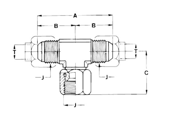 Bild för kategori JIC T-adapter svivlande mutter