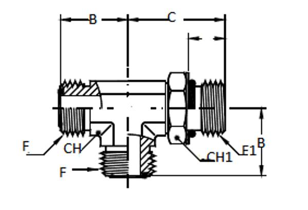 Bild för kategori ORFS L-adapter/ SAE utv ställbar