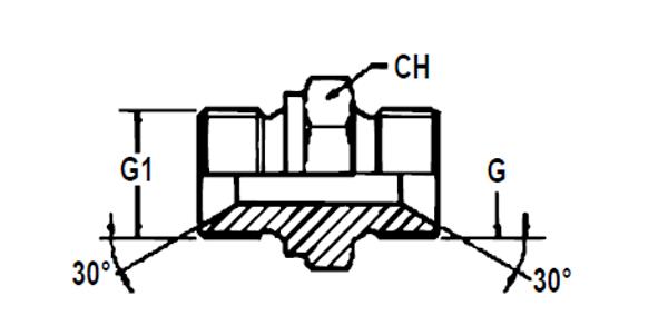 Bild för kategori Adapter metrisk utv/ BSP utv