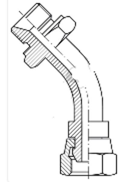 Bild för kategori BSP syrafast 45° rörböj utv/inv