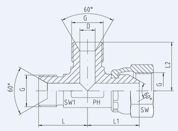 Bild för kategori BSP syrafast L-adapter utv/inv