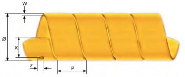 Bild för kategori Slangskydd Gul hårdplast