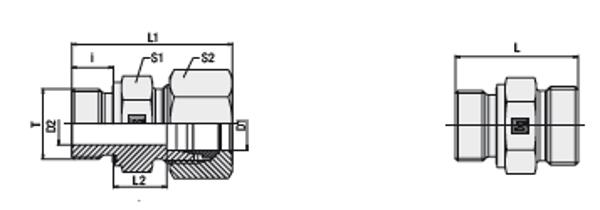 Bild för kategori Rak koppling XGE-ed, GE-ed utv. M-gänga