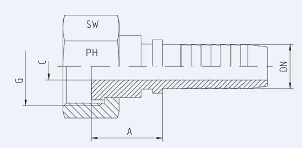 Bild för kategori BSP rak inv. plan nippel syrafast