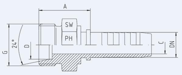 Bild för kategori Metrisk utvändig EO-L syrafast