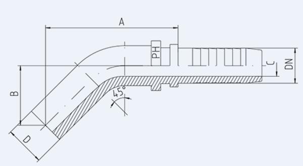 Bild för kategori Rörstuds 45° syrafast