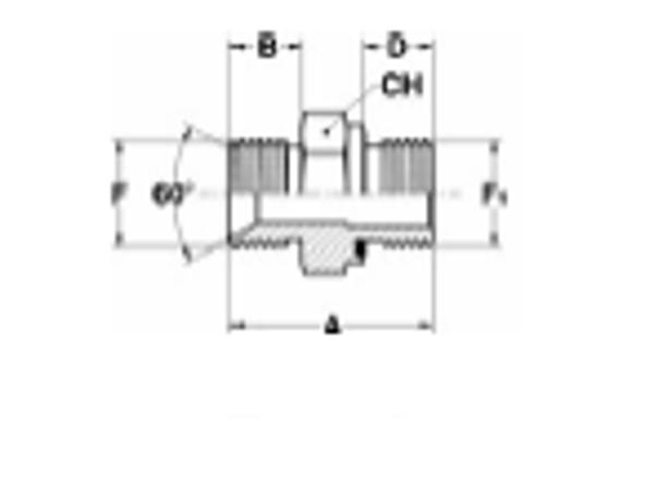 Bild för kategori Adapter utv BSP ed-tätad en sida