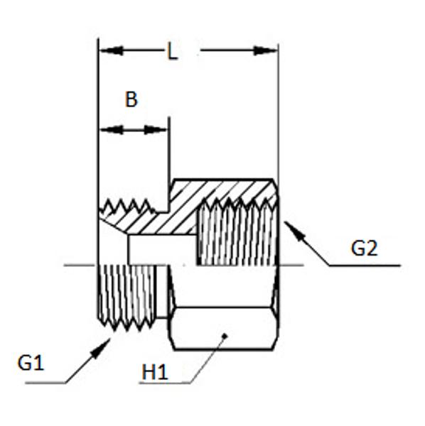 Bild för kategori Adapter utv NPTF/ inv BSP