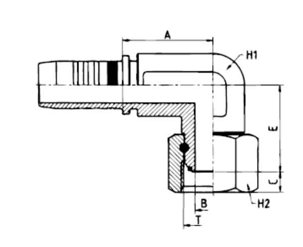 Bild för kategori BSP 90 tvär nippel o-ring MF2000