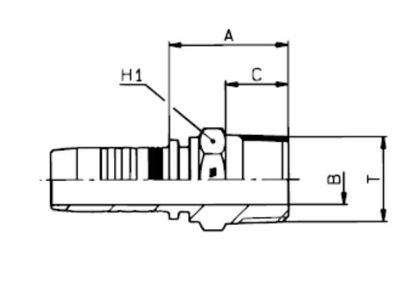 Bild för kategori BSPT utv. konisk nippel MF2000