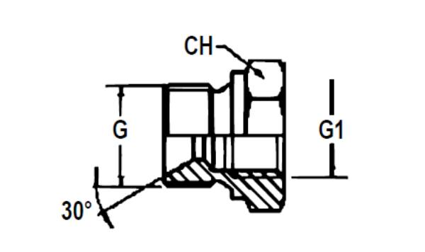 Bild för kategori Adapter BSP utv/inv lågbyggd
