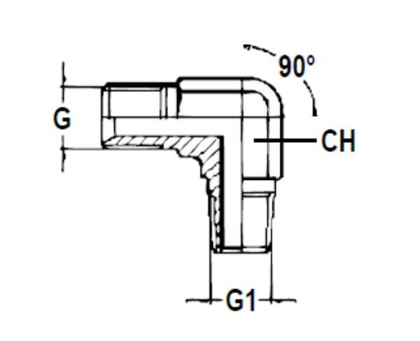 Bild för kategori Vinkeladapter 90° BSPP/BSPT