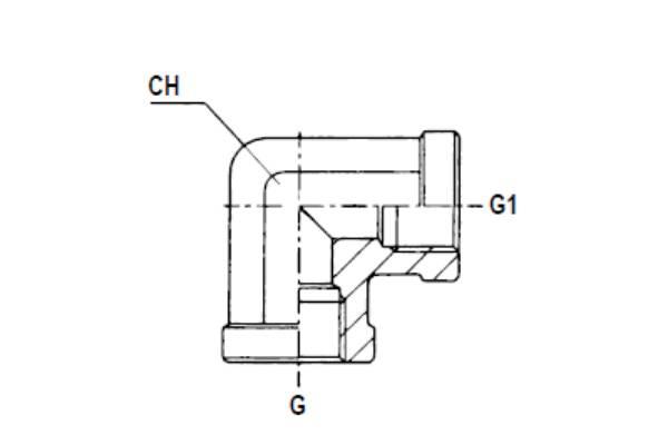 Bild för kategori Vinkeladapter 90° BSP inv fast