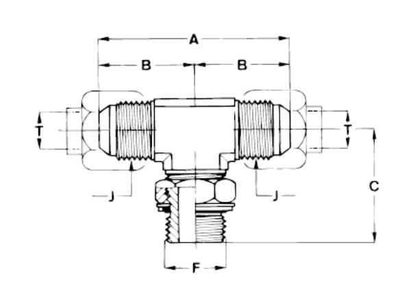 Bild för kategori JIC T-adapter utv/BSP ställbar