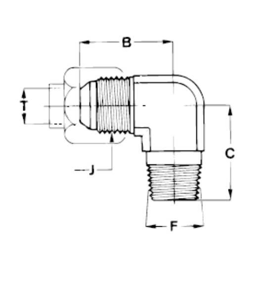 Bild för kategori JIC 90° utv/ NPTF utv.