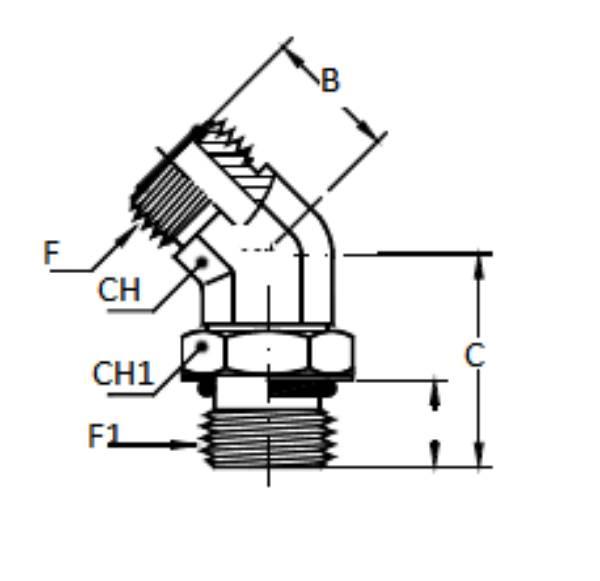 Bild för kategori ORFS 45° utv/ SAE utv ställbar
