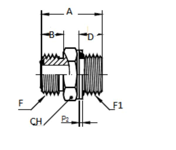 Bild för kategori ORFS rak utv/ Metrisk utv