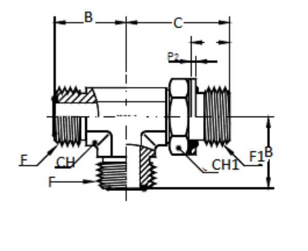 Bild för kategori ORFS L-adapter utv/ Mertisk utv ställbar