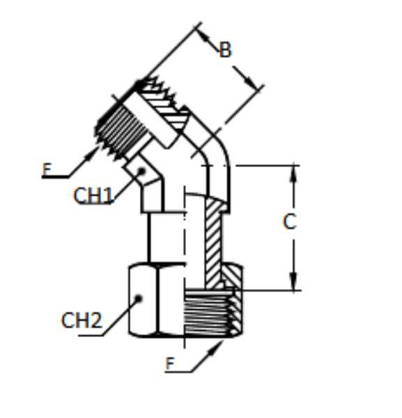 Bild för kategori ORFS 45° utv/inv