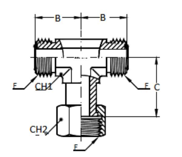 Bild för kategori ORFS T-adapter utv/inv