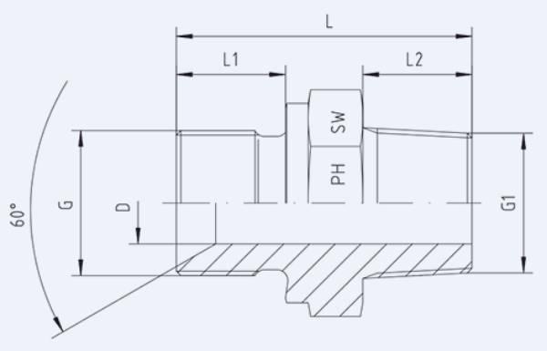 Bild för kategori Syrafast adapter rak BSPP/BSPT