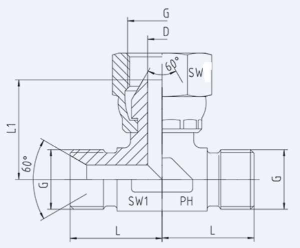 Bild för kategori BSP syrafast T-adapter utv/inv