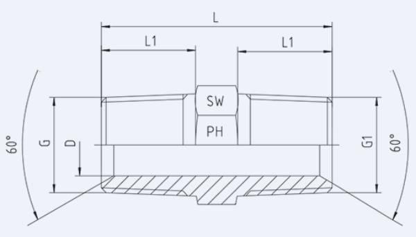 Bild för kategori Syrafast adapter rak BSPT/do