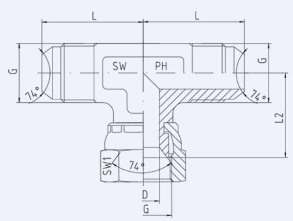 Bild för kategori JIC syrafast T-adapter utv/inv