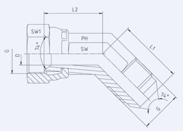 Bild för kategori JIC syrafast 45° utv/inv