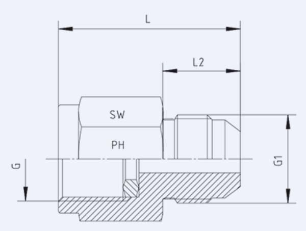 Bild för kategori JIC syrafast manometerkoppling