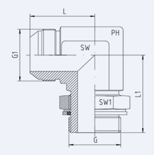 Bild för kategori JIC syrafast 90° utv/ BSP utv ställbar