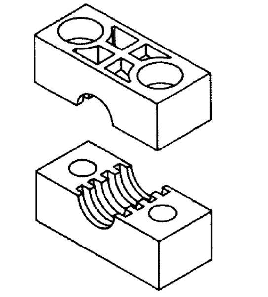 Bild för kategori Rörklammer tunga serien TSLK-PP