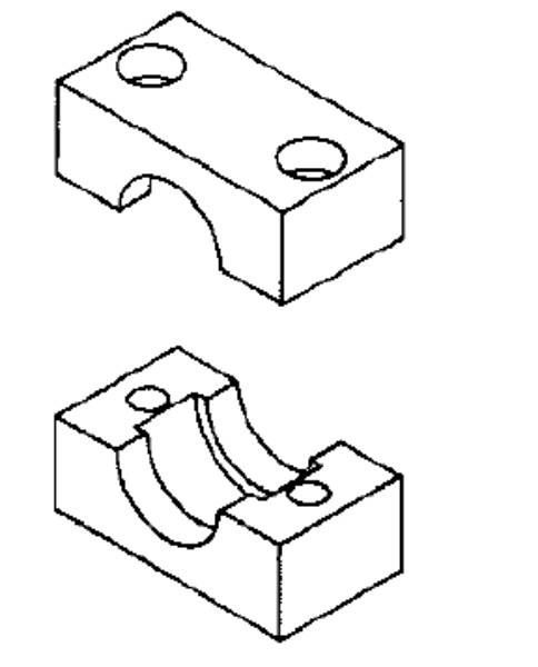 Bild för kategori Rörklammer elastomer insats