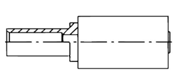 Bild för kategori Nippel rörstuds 1w