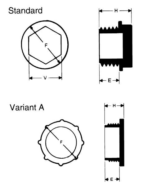 Bild för kategori Gängad plastplugg utv Metrisk