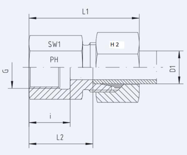 Bild för kategori Rak koppling XGAI, GAI syrafast inv R-gänga
