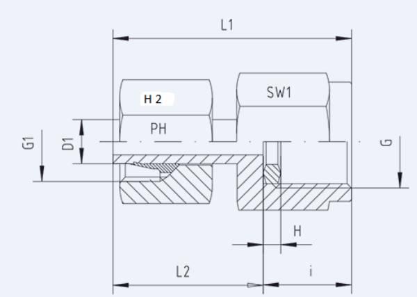 Bild för kategori Manometerkoppling ställbar MAVE syrafast