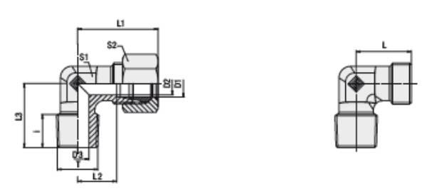 Bild för kategori Vinkelkoppling XWE, WE utv. R-gänga