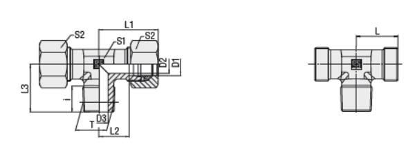 Bild för kategori T-koppling XTE, TE utv. R-gänga