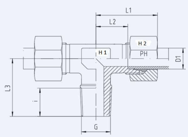 Bild för kategori T-koppling XTE, TE utv. R-gänga syrafast