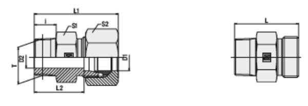 Bild för kategori Rak koppling XGE, GE utv NPTF