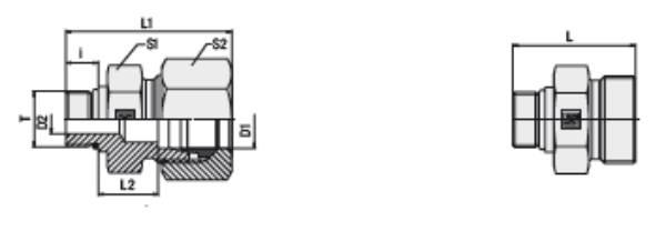 Bild för kategori Rak koppling XGE, GE utv. UNF