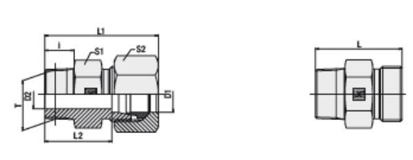 Bild för kategori Rak koppling XGE, GE utv. KR