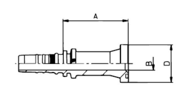 Bild för kategori Fläns SAE 6000 rak Xtralock