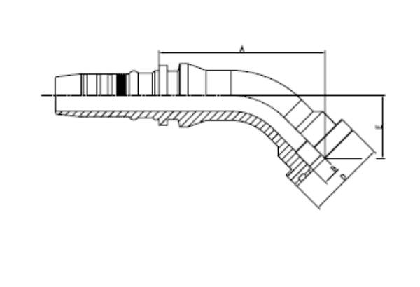 Bild för kategori Fläns SAE 6000 45° Xtralock