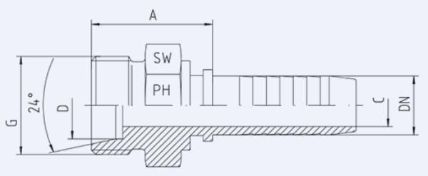 Bild för kategori Metrisk utvändig EO-S syrafast