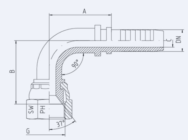 Bild för kategori JIC 90° invändig syrafast